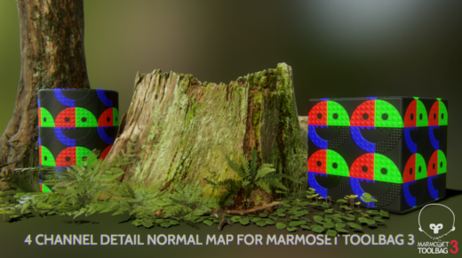 4 Channel Detail Normal Map Shader for Marmoset Toolbag